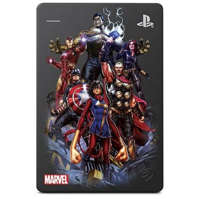 """image Seagate Game Drive pour PS4, 2 To, Avengers Special Edition - Captain America, Disque Dur Externe Portable, 2,5"""", USB 3.0, PS4 (STGD2000206)"""