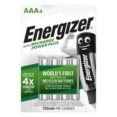 image Energizer Piles Rechargeables AAA, Recharge Power Plus, Lot de 4