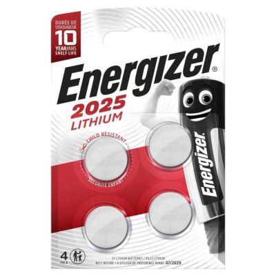 image Energizer CR2025 Piles Bouton au Lithium Argent 2025 - Pack de 4