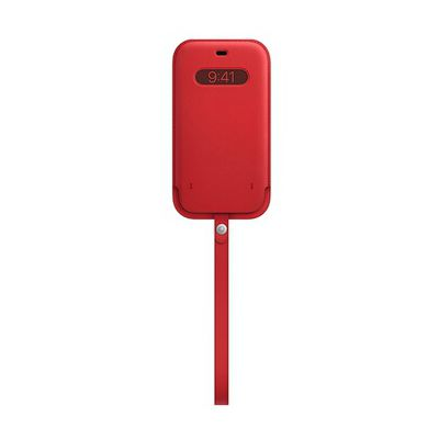 image Apple Housse en Cuir avec MagSafe (pour iPhone 12, 12 Pro) - (Product) Red