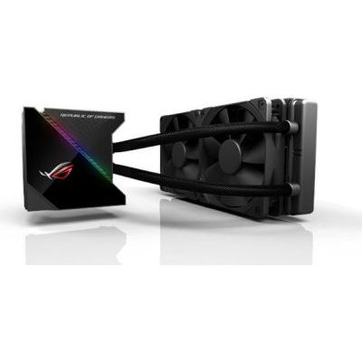 image ASUS - 90RC0030-M0UAY0 - Kit de Watercooling All-in-One avec interface OLED - 2 Ventilateurs Noctua 120 mm