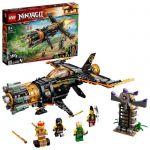 image produit LEGO NINJAGO 71736 Le jet multi-missiles, jouet d'avion Boulder Blaster avec prison et figurine de Ninja Kai Or à collectionner - livrable en France