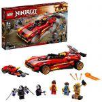 image produit LEGO NINJAGO 71737 Le chargeur Ninja X-1, jeu automobile ninja incluant une moto et une figurine de Cole Golden - livrable en France