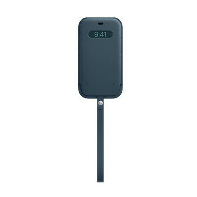 image Apple Housse en Cuir avec MagSafe (pour iPhone 12 Pro Max) - Bleu Baltique