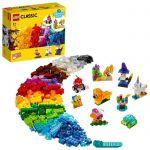 image produit LEGO Classic 11013 Briques transparentes créatives, Jeu de construction en briques incluant des animaux pour enfants - livrable en France