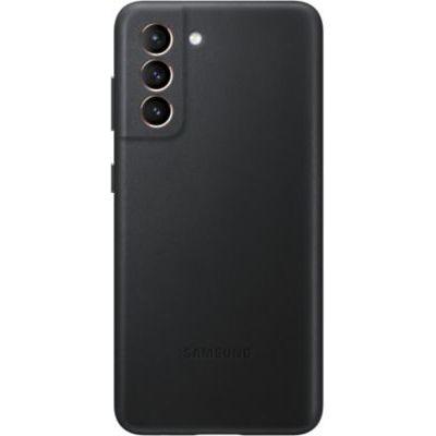 image Samsung Coque en Cuir Galaxy S21, Noire