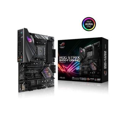 image ASUS ROG STRIX B450-F GAMING - carte mère GAMING (AMD Ryzen B450 Socket AM4 ATX DDR4, Aura Sync) & Corsair Vengeance LPX 16Go (2x8Go) DDR4 3000MHz C15 XMP 2.0 Kit de Mémoire Haute Performance - Noir
