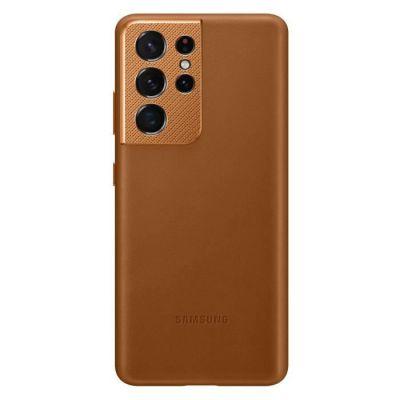 """image Samsung EF-VG998 Coque de Protection pour téléphones Portables 17,3 cm (6.8"""") Housse Marron & Chargeur Secteur Rapide 25W, Port USB Type C (sans câble)"""