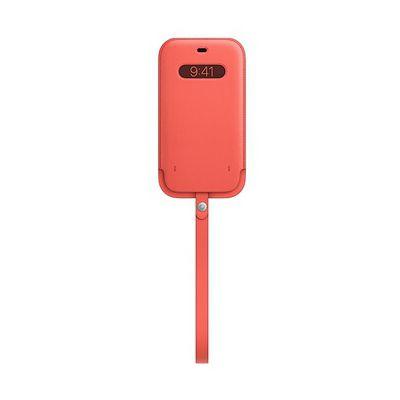 image Apple Housse en Cuir avec MagSafe (pour iPhone12, 12Pro) - Rose agrume