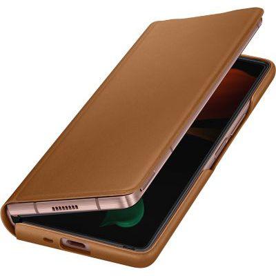 "image Samsung EF-FF916LAEGEU Coque de Protection pour téléphones Portables 19,3 cm (7.6"") Folio Porte Carte Marron"