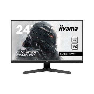 "image Ecran iiyama 24"" G-Master G2440HSU-B1 Black Hawk, IPS LED, FreeSync, FHD, 1xHDMI, 1xDisplay Port, 2xUSB, 1ms, Black Tuner, speakers"