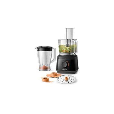 image Philips HR7320/10 Robot de cuisine Daily Collection Noir 700W Bol 1,5 L avec Blender 1 L