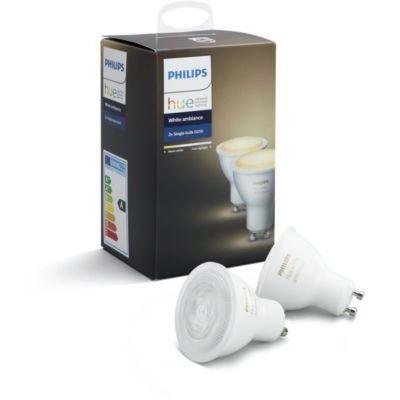 image Philips Lighting 929001257603 Hue Ampoule Plastique GU10 Blanc