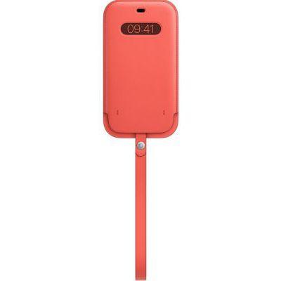 image Apple Housse en Cuir avec MagSafe (pour iPhone 12 Pro Max) - Rose agrume