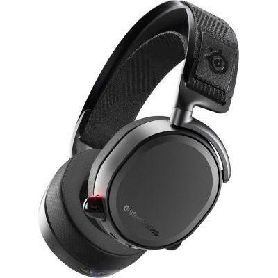 image SteelSeries Arctis Pro Wireless - Casque Gaming sans fil (2,4 G & Bluetooth) - Pilotes d'enceintes haute résolution - Pour PC, PS5 et PS4 - Noir