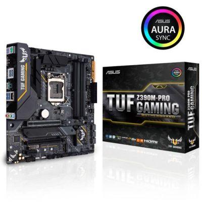 image ASUS TUF Z390M-PRO GAMING - carte mère GAMING (Intel Z390 LGA 1151 mATX DDR4 Aura Sync)