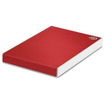 image Seagate One Touch 1To, Disque dur externe HDD – Rouge, USB3.0, pour PC portable et Mac, Abonnement de 4 mois à la formule Adobe Creative Cloud, et services Rescue valables 2 ans (STKB1000403)