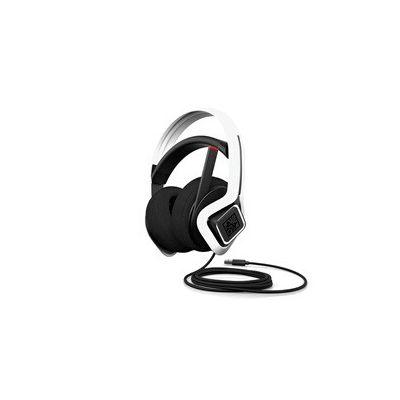 image HP OMEN Mindframe Prime - Casque Gaming Filaire USB (Technologies de refroidissement FrostCap, Son Surround C-Media Xear, 2 Micros Réduction de Bruits, Eclairage LED RVB) - Blanc