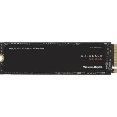 image WD_BLACK SN850 500Go NVMe Disque SSD Interne pour les Jeux; Technologie PCIe Gén4, Vitesse de Lecture Jusqu'à 7000Mo/s, M.2 2280