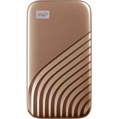 image WD My Passport SSD externe 500 Go (NVMe, USB-C, 1050 Mo/s) - Doré