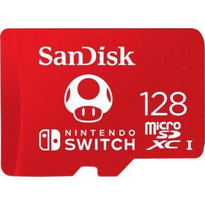 image SanDisk Carte microSDXC UHS-I pour Nintendo Switch 128 Go + Nintendo Switch Online - Abonnement 3 Mois (Code de téléchargement)