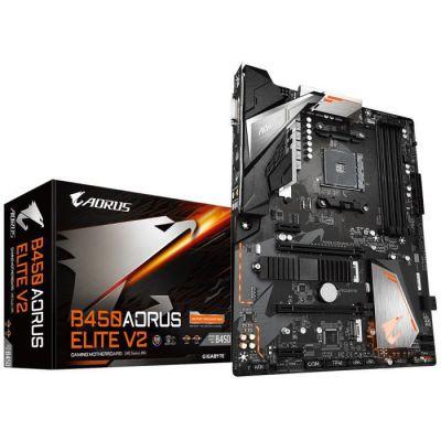 image Gigabyte B450 AORUS Elite V2 AMD B450 Emplacement AM4 ATX