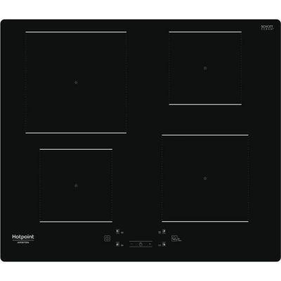 image HOTPOINT - HQ5660SNE - Table de cuisson induction - 4 foyers - 7200W - L60 cm - Rêvetement verre noir