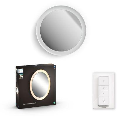image Philips White Ambiance ADORE Applique miroir salle de bain GM compatible Bluetooth 1x40W- Blanc (télécommande incluse), compatible Bluetooth