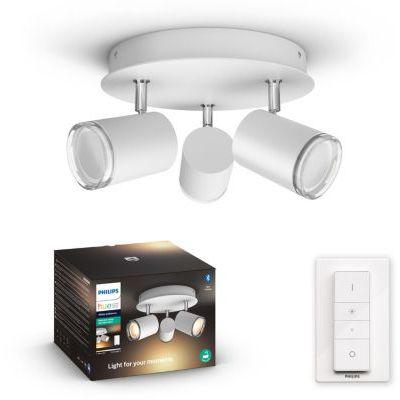 image Philips Hue White Ambiance ADORE Spot plafonnier spirale 3x5.5W salle de bain - Blanc (télécommande incluse), compatible Bluetooth