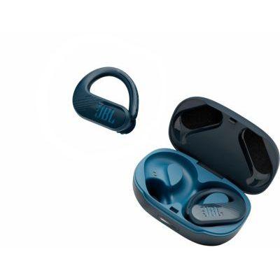 image JBL Endurance Peak II – Écouteurs de sport étanches sans fil avec étui de recharge – Bleu