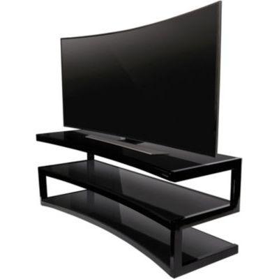 image Meuble TV Norstone Esse Curve noir laqué/noir 32-60 P