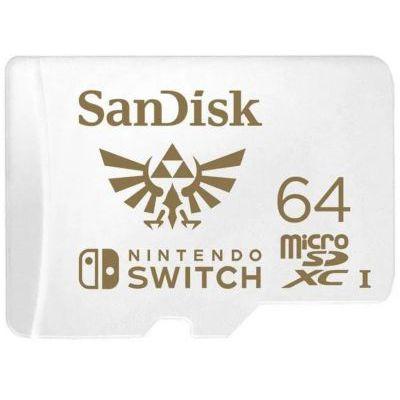 image SanDisk Carte microSDXC UHS-I pour Nintendo Switch 64 Go - Produit sous licence Nintendo