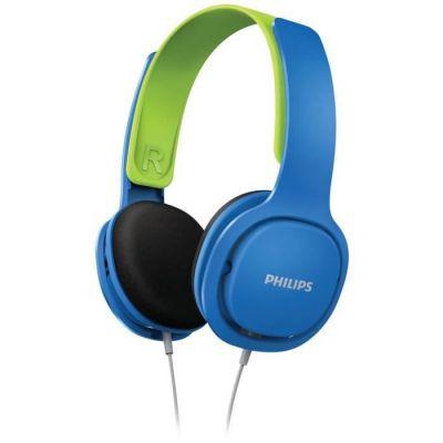 image Philips SHK2000BL - Casque Enfant - Bleu & Répartiteur Audio 5 Casques, Blanc