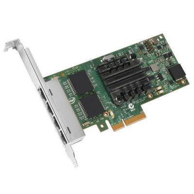 image Intel Ethernet Server Adapter I350-T4 - Adaptateur réseau - PCIe 2.0 x4 profil bas - Gigabit Ethernet x 4 - pour ThinkServer RD350, RD450, RD550, RD650, RS140, RS160, TD340, TD350, TS140, TS150, TS460