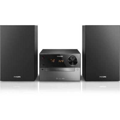 image Philips BTM2310 Chaéne Hifi Bluetooth avec Lecteur CD, USB, Radio FM, Entrée Audio