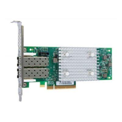 image QLogic 16Gb FC Dual-Port HBA (Enhanced Gen 5) - Adaptateur de Bus hôte - PCIe 3.0 x8 Profil Bas - 16Gb Fibre Channel x 2 - pour NeXtScale nx360 M5, System x35XX M5, x3750 M4, x3850 X6, x3950 X6, Thin