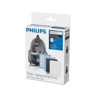 image Philips FC8058/01 Kit 1 filtre de sortie HEPA 10, 1 filtre moteur, 1 filtre en mousse Pour aspiateurs Philips PowerPro Active FC863X