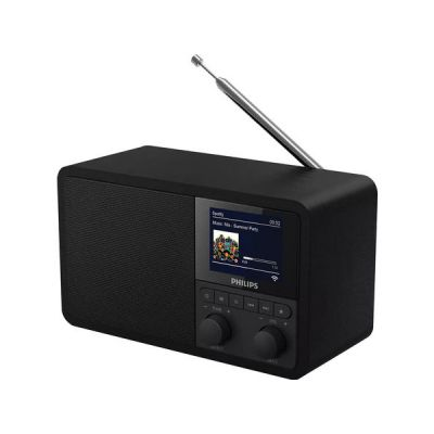 image Philips Webradio Dab+ PR802/12 Radio-Réveil Dab+ (Bluetooth, Mise en Veille programmable, Dual Alarm, Spotify Connect) Noir