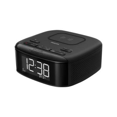 image Philips Audio R7705/10 Radio-Réveil avec Chargement sans Fil Qi pour Téléphone (Radio Dab+/FM, Bluetooth, Double Alarme, Synchronisation Automatique de L'heure, Batterie de Secours) - Modèle 2020/2021