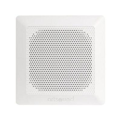 """image Artsound Waterproof Encastrables DC84 Haut-parleurs multimédia Design """"carré étanche"""" 100W Blanc"""