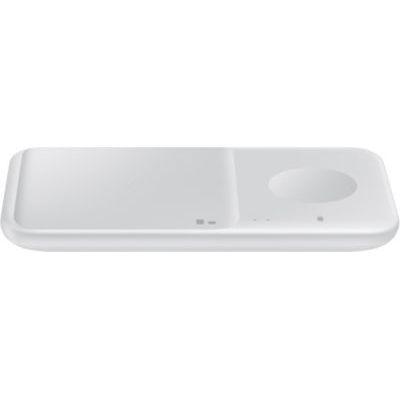 image Samsung EP-P4300TW Duo Chargeur sans Fil Duo avec Adaptateur, Blanc
