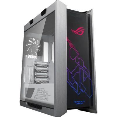 image ASUS ROG Strix Helios Blanc RGB Boîtier PC gaming ATX/EATX, Panneaux bilatérales en verre trempé, structure en aluminium, support Carte Graphique, supports pour radiateurs jusqu'à 420 mm et Aura Sync