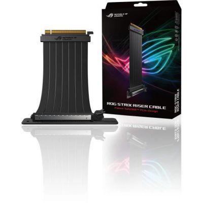 image ASUS RS200 Câble RISER ROG Strix Premium 240 mm PCI-E 3.0 x 16 avec Adaptateur 90 degrés, Design SafeSlot breveté, Blindage EMI