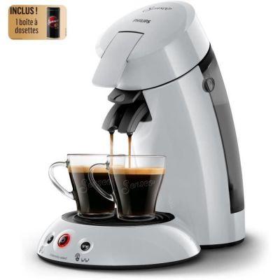 image PHILIPS HD6554/53 Machine à café à dosette Original + Boîte de rangement dosettes - Gris clair