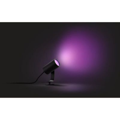image produit Philips Hue White & Color Ambiance LILY Kit Extension 1 Spot 8 W - Anthracite - livrable en France