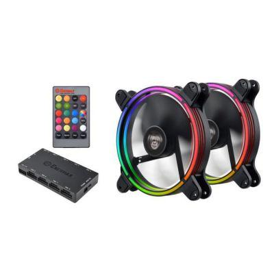 image Ventilateurs 140mm RGB LED pour Boîtier PC, ultra silencieux Haut de gamme ENERMAX T.B. RGB 14cm - Pack de 2 pièces, Pale Détachable, anti-poussière