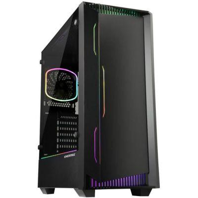 Enermax LIBLLUSION LL30 - Boîtier PC Gaming Moyen-Tour RGB Adressable (Tour ATX avec Fenêtre en Verre Trempé) - Noir Moyen-Tour
