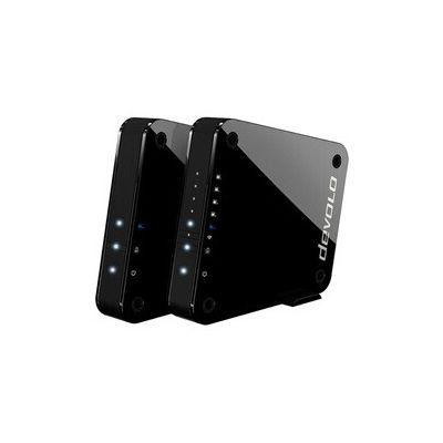 image Devolo GigaGate, Bridge Wi-FI (2 Gbit/s, 1x Port Gigabit, 4X Ports Fast Ethernet, Connexion dans la Bande des 5 GHz, Expérience Multimédia Extrême, Cryptage AES) Noir