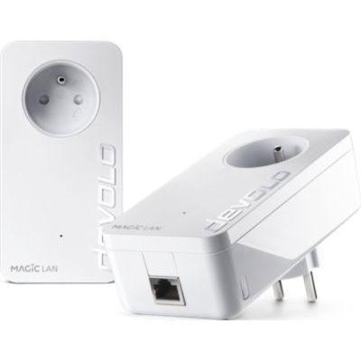 image devolo Magic 1 LAN : Starter Kit CPL pour un internet fiable dans toute la maison via le circuit électrique, idéal pour le télétravail