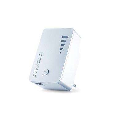 image Devolo 9790 WiFi Repeater ac (1200 Mbit/s, 1x Port Gigabit, WPS, Répéteur WiFi, Amplificateur WiFi, Augmenter Portée Wifi, Affichage de l'Intensité du Signal, Access Point ), Blanc